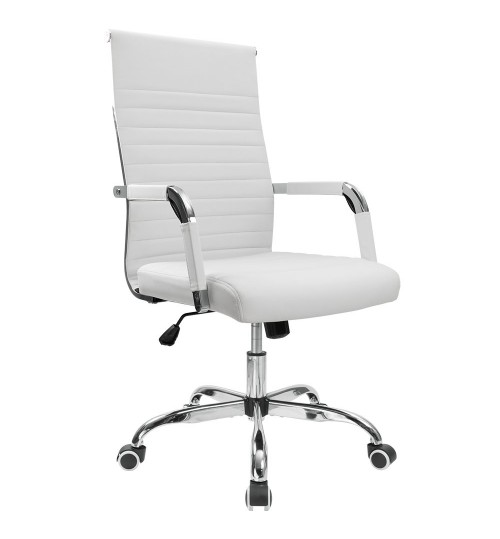 Office Chair Office Desk Chair Ribbed Mid-Back Executive chair Conference Task Chair Adjustable Swivel Chair