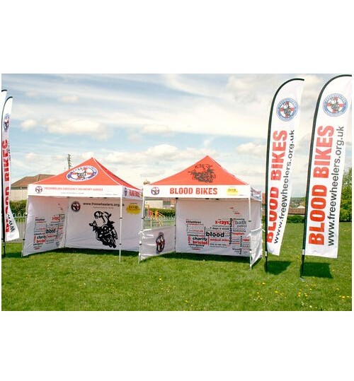 "American Phoenix 10""x10"" Digital Graphics Logo Printed Custom Event Easy Pop Up Canopy Tent+ Printed Custom Side Wall available (Black Frame, 10""x10"" Canopy with 2 sidewall)"