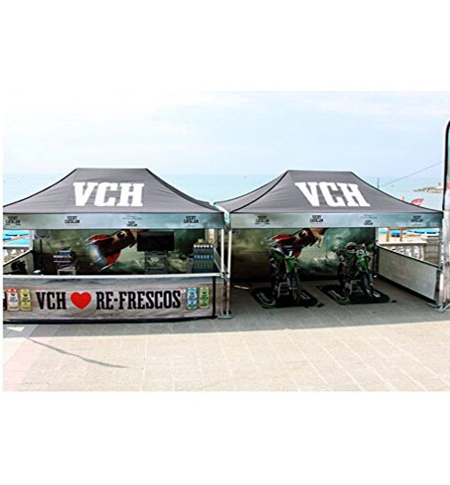 "American Phoenix 10""x20"" Digital Graphics Logo Printed Custom Event Easy Pop Up Canopy Tent+ Printed Custom Side Wall available (Black Frame, 10""x20"" Canopy with 1 sidewall)"