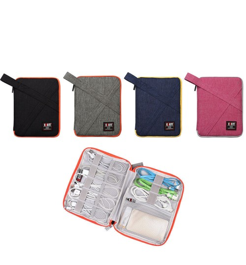 Two Bags.BUBM Universal USB Drive ShuttleTravel Gear Organizer  Electronics Accessories Bag Battery Charger Case.